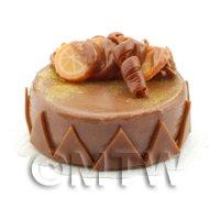 Dolls House Miniature Handmade Chocolate Orange Cake
