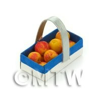 Handmade Dolls House Miniature Punnet With 10 Apples