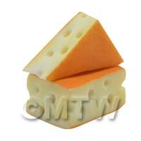 Dolls House Miniature Handmade Swiss Cheese