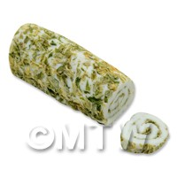 Dolls House Miniature Handmade Garlic And Herb Roulade
