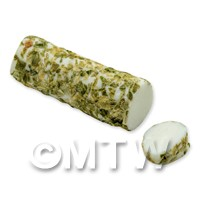 Dolls House Miniature Handmade Herb Coated Caprino Cheese (Long)