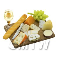 Dolls House Miniature - Dolls House Miniature Large Cheese Board Selection
