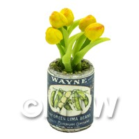 Dolls House Miniature Yellow Tulip in Food Can