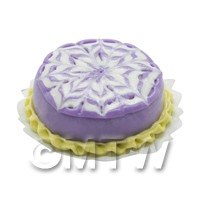 Dolls House Miniature Purple Bakewell Cake