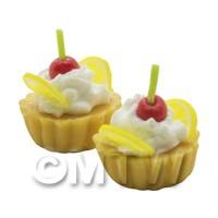 Dolls House Miniature Lemon Cherry tart