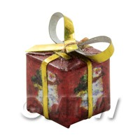 Dolls house Miniature  Small Christmas Parcel Style 3