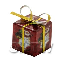 Dolls house Miniature  Medium Christmas Parcel Style 3