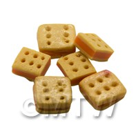 Dolls House Miniature Square Savoury Filled Cracker