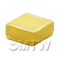 Dolls House Miniature Gold Square Box