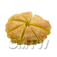 Dolls House Miniature Bakery Whole Sliced Apple Pie