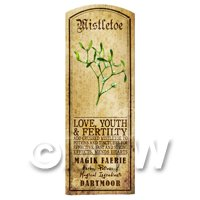 Dolls House Herbalist/Apothecary Mistletoe Herb Long Colour Label