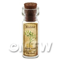 Dolls House Apothecary Mistletoe Herb Short Colour Label And Bottle