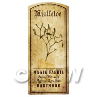 Dolls House Herbalist/Apothecary Mistletoe Herb Short Sepia Label