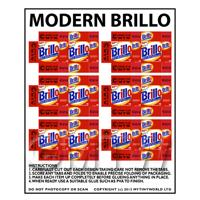 Dolls House Miniature sheet of 6 Modern Brillo Soap Pads Boxes