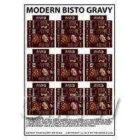Dolls House Miniature Sheet of 9 Modern Bisto Gravy Packets
