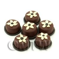 Handmade Round Mixed Chocolate Flower Bead - Jewellery