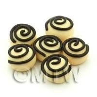 Handmade Round White Chocolate Spiral Bead - Jewellery