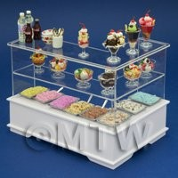 Left Hand Dolls House Miniature Ice Cream / Dessert Counter