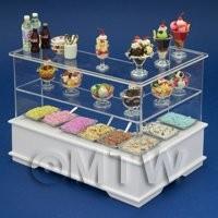 Left Hand Dolls House Miniature Ice Cream / Dessert Counter