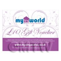 Dolls House Gift Vouchers