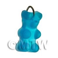 Translucent Light Blue Jelly Bear Charm