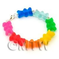 Handmade 7 Colour Jelly Bear Bracelet