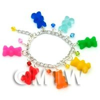 Handmade 7 Colour Jelly Bear Bracelet