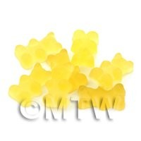 Translucent Pale Yellow Jelly Bear Charm For Jewellery