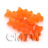 Translucent Orange Jelly Bear Charm For Jewellery
