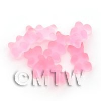 Translucent Pale Pink Jelly Bear Charm For Jewellery