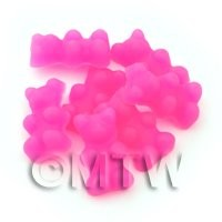 Translucent Pink Jelly Bear Charm For Jewellery