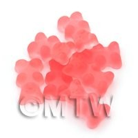 Translucent Light Red Jelly Bear Charm For Jewellery