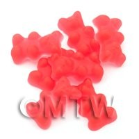 Translucent Deep Red Jelly Bear Charm For Jewellery
