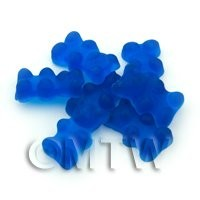 Translucent Royal Blue Jelly Bear Charm For Jewellery