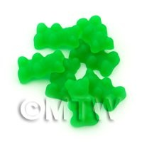 Translucent Dark Green Jelly Bear Charm For Jewellery