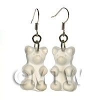 Pair of Translucent Clear Jelly Bear Earrings