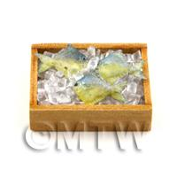 3 Dolls House Miniature Fish With Ice In A Crate (FSHB15)