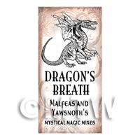 Dolls House Miniature Dragons Breath Magic Label Style 1