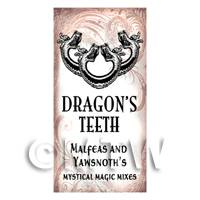 Dolls House Miniature Dragons Teeth Magic Label Style 1