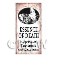 Dolls House Miniature Essence Of Death Magic Label Style 1