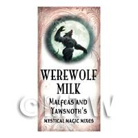 Dolls House Miniature Werewolf Milk Magic Label Style 1