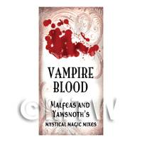 Dolls House Miniature Vampire Blood Magic Label Style 1