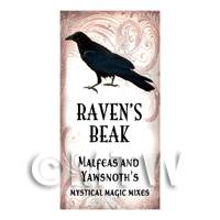 Dolls House Miniature Ravens Beak Magic Label Style 1