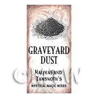 Dolls House Miniature Graveyard Dust Magic Label Style 1