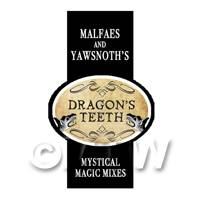 Dolls House Miniature Dragons Teeth Magic Label Style 2