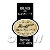 Dolls House Miniature Mermaid Hair Magic Label Style 2