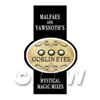 Dolls House Miniature Goblin Eyes Magic Label Style 2