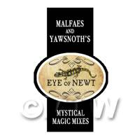 Dolls House Miniature Eye Of Newt Magic Label Style 2