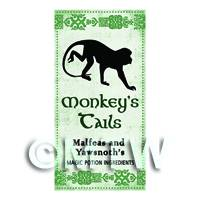 Dolls House Miniature Monkeys Tails Magic Label (S3)