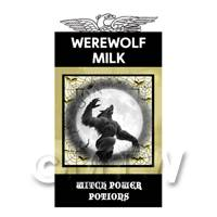Dolls House Miniature Werewolf Milk Magic Label (S4)